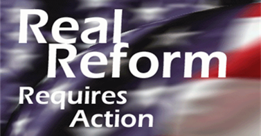 Real Reform Requires Action
